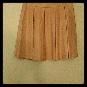 Leather look flared skater mini skirt